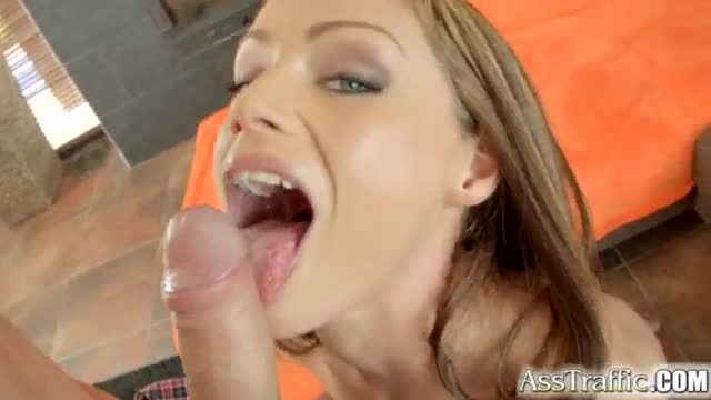 Ass Traffic Sophie Lynx gives a blow job then gets anally drilled