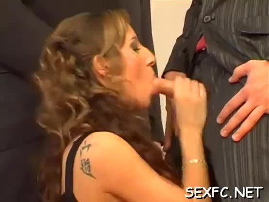 Babes have a fun fully dressed sex session by taking a huge cock