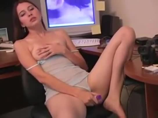 Erika masturbates to video of herself
