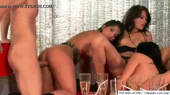 Sexy babes lick each other