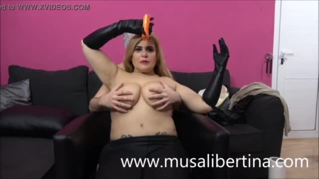 Massage on big natural tits of Musa Libertina