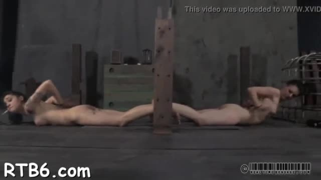 Hot hottie gets her smooth wazoo whipped during torture